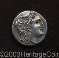 Ancients:Greek, Ancients: Paphlagonia, Amastris. Ca. 285 B.C. AR didrachm (21 mm,9.46 g). Head of Amastris right, wearing mitra ornamented withwreat...