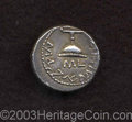 Ancients:Judaea, Ancients: Judaea, First Jewish War. Year 3 (= 68-69 C.E.). ARshekel (21 mm, 13.81 g). 'Shekel of Israel', cup (of the Omer?),the rim...