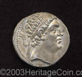 Ancients:Greek, Ancients: Baktria, Graeco-Baktrian Kingdom. Euthydemos I Ca.230/25-200 B.C. AR tetradrachm (27 mm, 16.56 g). Attic standard.Diademed...
