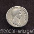 Ancients:Roman, Ancients: Antonia, mother of Claudius. AR denarius (19 mm, 3.71 g).Diademed and draped bust right / Antonia, as Constantia standingf...