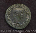 Ancients:Roman, Ancients: Germanicus, brother of Claudius. Died A.D. 19. AE as (30mm, 9.24 g). Issued under Claudius, ca. A.D. 50-54. Bare headright...