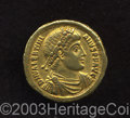 Ancients:Roman, Ancients: Valentinian I. A.D. 364-375. AV solidus (21 mm, 4.40 g).Antioch, A.D. 364. Diademed, draped and cuirassed bust right /Vale...