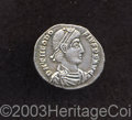 Ancients:Roman, Ancients: Theodosius I. A.D. 379-395. AR siliqua (17 mm, 1.89 g).Trier, A.D. 378-388. Diademed, draped and cuirassed bust right /Con...