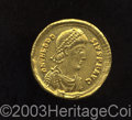 Ancients:Roman, Ancients: Theodosius I. A.D. 379-395. AV solidus (20 mm, 4.40 g).Sirmium, A.D. 393-395. Diademed, draped and cuirassed bust right /T...