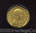 Ancients:Roman, Ancients: Theodosius I. A.D. 379-395. AV solidus (20 mm, 4.15 g).Constantinople, A.D. 382-383. Diademed, draped and cuirassed bustri...