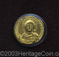 Ancients:Byzantine, Ancients: Constantine VII, with Romanus II. A.D. 913-959. AVsolidus (19 mm, 4.35 g). Constantinople, A.D. 945-959. Nimbate bustof Ch...