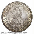 Austria: , Austria: Ferdinand I Taler ND (1543), Dav-8030, Hall mint. Armored bust with crown and scepter/Eagle and legends. Choice UNC, a super...