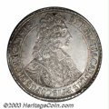 Austria: , Austria: Olmutz. Karl III Josef Taler 1706, KM116, Dav-1211, Ornate bust/Crowned arms. AU with light toning and extremely sharp detai...