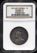 German East Africa: , German East Africa: Wilhelm II Rupie 1890, KM2, MS64 NGC, a trulybeautiful example with deep orange and gray toning....