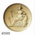 German States:Hamburg, German States: Hamburg. Gold Art prize medal in the weight of 3 ducats 1765 by C. Voigt, Female figure seated left on prow of boat/Beehive ...