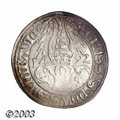 German States:Saxony, German States: Saxony. Friedrich Bartgroschen 1492, Bust with helmet right/Arms dividing date, Mer-353, A very nice, about XF example of th...