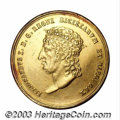 Italian States:Naples & Sicily, Italian States: Naples & Sicily. Ferdinand I gold 15 Ducati 1818, KM-C128, King's bust/Standing figure and crowned column. EF for wear, but ...