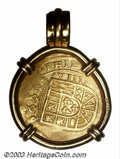 Mexico: , Mexico: Philip V Gold 8 Escudos Cob circa 1714, KM57, date andmintmark details not struck up, but the denomination and otherdetail...