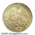 Mexico: , Mexico: Gold 8 Escudos 1845-Go PM, KM383.7, Lustrous AU, just a fewminor surface marks....