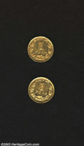 Mexico: , Mexico: Gold Peso Pair, KM410, 1901-Mo M, 9/8, Large date, both BU.... (Total: 2 Coins Item)
