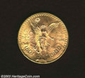 Mexico: , Mexico: Gold 50 Pesos 1922, KM481, Choice BU. ...