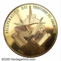 Mexico: , Mexico: Recuperacion dal Chamizal gold medal 1963, Flags of theUnited States and Mexico/The Seated figure of Juarez, with the head...