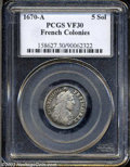 1670-A 5SOL French Colonies 5 Sols VF30 PCGS. ...(PCGS# 158627)