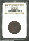 1783 1C Washington & Independence Cent, Draped Bust, Copper Restrike, Engrailed Edge PR65 Brown NGC. ...(PCGS# 685)