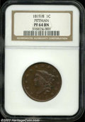 Proof Large Cents: , 1819/8 PR 64 Brown NGC. ...
