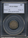 Bust Dimes: , 1824/2 MS64 PCGS. The current Coin Dealer Newsletter (...