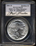 Modern Issues: , 2001-D Buffalo MS70 PCGS. ...