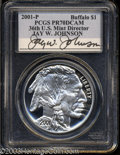Modern Issues: , 2001-P Buffalo PR 70 Deep Cameo PCGS. ...