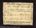Colonial Notes:North Carolina, April 23, 1761, 20s, North Carolina, NC-124, XF. This is a ...