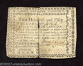 Colonial Notes:North Carolina, May 10, 1780, $250, North Carolina, NC-195, VF. Although ...