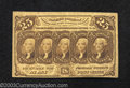 Fractional Currency:First Issue, First Issue 25c, Fr-1281, Fine-VF. This straight edge with ...