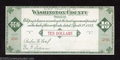 Miscellaneous:Depression Scrip, 1933 $10 Washington County, OR, Gem Crisp Uncirculated. This ...