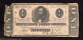 Confederate Notes:1862 Issues, 1862 $1 Clement C. Clay, T-55, Good-Very Good....