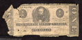 Confederate Notes:1862 Issues, 1862 $1 Clement C. Clay, T-55, Good....