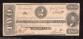 Confederate Notes:1863 Issues, 1863 $2 Judah P. Benjamin, T-61, Extremely Fine. A pretty, ...