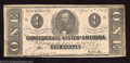 Confederate Notes:1863 Issues, 1863 $1 Clement C. Clay, T-62, Extremely Fine-About ...