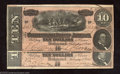 Confederate Notes:1864 Issues, Two 1864 $10 Horses pulling Cannon; R.M.T. Hunter on right, T-... (2 notes)