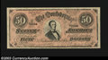 Confederate Notes:Group Lots, Replica T66 $50, Crisp Uncirculated. The back is purple and ...