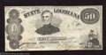 Obsoletes By State:Louisiana, 1863 $50 The State of Louisiana, Shreveport, LA, Very Fine-...