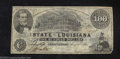 Obsoletes By State:Louisiana, 1863 $100 The State of Louisiana, Shreveport, LA, Very Fine. ...