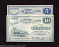 Obsoletes By State:Ohio, 1862 5¢ and 10¢ Summit County Bank, Cuyahoga, OH, Choice Crisp ...(2 notes)