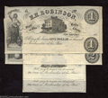 Obsoletes By State:Ohio, 185_ 5¢, 50¢, $1, and $2 H.H. Robinson, New London, Butler Co.,...(4 notes)