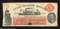 Obsoletes By State:Ohio, 1838 $20 Ohio River Bank, Marietta, OH, Very Fine. This note ...