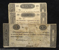 Obsoletes By State:Ohio, 1819 25¢, 50¢, and $1, Unknown Issuer, Worthington, OH, Very ... (3notes)