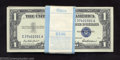 Small Size:Silver Certificates, Pack of 100 consecutive 1957 $1 Silver Certificates, Fr-1619, ... (100 notes)