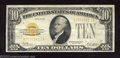 Small Size:Gold Certificates, 1928 $10 Gold Certificate, Fr-2400, Very Fine. This small size ...