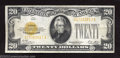 Small Size:Gold Certificates, 1928 $20 Gold Certificate, Fr-2402, Fine-Very Fine. A small ...