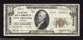 National Bank Notes:Louisiana, New Orleans, LA - $10 1929 Ty. 2 NB of Commerce Ch. # ...