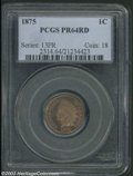 Proof Indian Cents: , 1875 1C PR64 Red PCGS. Both sides are nicely reflective, ...