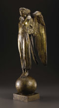 Bronze:European, An Art Deco Figurative Bronze. Henri Louis Bouchard (1875-1960),French. Circa 1920. Bronze with gold patina. Signed: Bo...