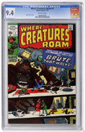 Bronze Age (1970-1979):Horror, Where Creatures Roam #1 (Marvel, 1970) CGC NM 9.4 Off-whitepages....